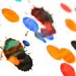 Royalty-Free Stock Photo: Multi-coloured splashes on a white background.