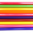 Stock Photo: Colour pencils on a white background.