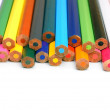 Стоковое фото: Colour pencils on a white background.