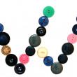 The alphabet from buttons for sewing. — Stock Photo #10896548