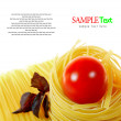 Royalty-Free Stock Photo: Pasta ,spaghetti , tomato and basil.