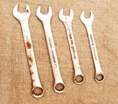 Rusty wrenches . — Stock Photo