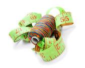 Discussioni e misurando la roulette. — Foto Stock