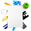 Royalty-Free Stock Photo: Notebook and stationery.