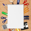 Royalty-Free Stock Photo: Back to school. School tools and a notebook.