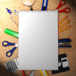 Back to school. School tools and notebook. — Stock Photo #12391007