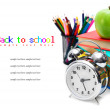 Back to school. School tools. On white background. — Stock Photo #12391427