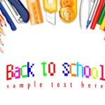 School tools on white background. — Stock Photo
