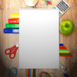 School accessories on a wooden background. — Stock Photo #12391594