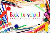 Back to school. School accessories . — Stock Photo