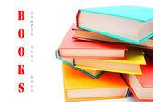 Multi-coloured books. School . — Stock Photo