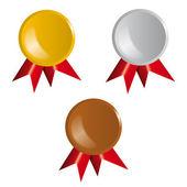 Award, ribbons — Stock Vector