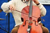 Man Playing Cello — Stock Photo