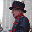 Beefeater at the Tower of London - Stock Photo