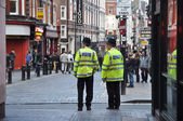 Police near Piccadilly Circus in London — Stock Photo