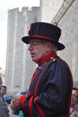 Beefeater at the Tower of London — Stock Photo