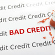 Stock Photo: Bad credit