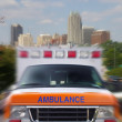 Ambulance motion — Stock Photo