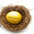 Stock Photo: Golden retirement egg