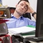 Falling asleep at office — Stock Photo