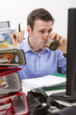 Confident accountant at work — Stock Photo