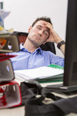 Falling asleep at office — Stock Photo