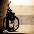 Bike by the sea - Stock Photo