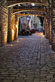 Old european street — Stock Photo