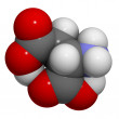 Aspartic acid (Asp, D) molecule — Stock Photo