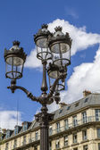 Metallic retro lamppost in Paris, France — Stock Photo