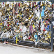 Love Locks in Paris, France, representing secure love and romance — Stock fotografie