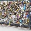 Love Locks in Paris, France, representing secure love and romance — Photo