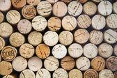 Pattern of wine bottle corks as background — Stock Photo