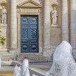 Entrance to the Sorbonne University in Paris, France — Stock Photo