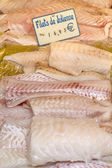 Fresh fish on display in a market in Paris, France — Stock Photo