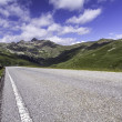 Scenic mountain road in Northern Italy - Stock Photo