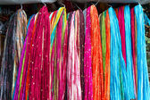 Shawls on a market in India — Foto Stock