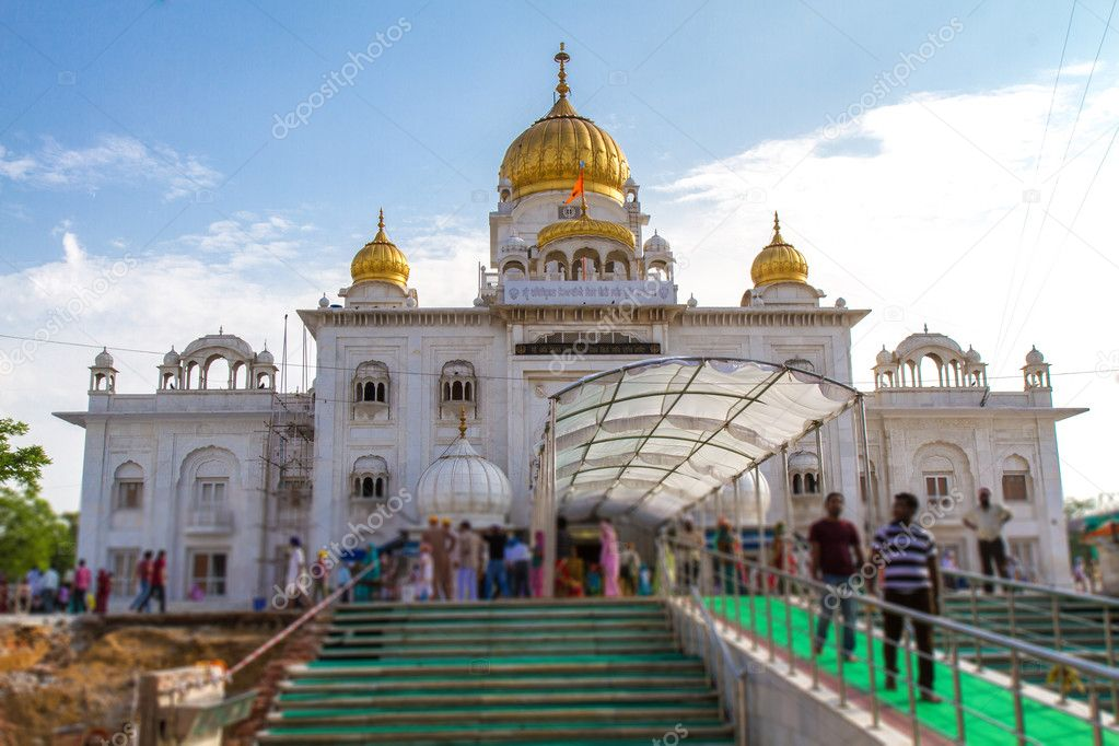 """Gurdwara Bangla Sahib"" Temple in Delhi, India — Stock Photo #12339045"