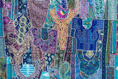 Handmade patchwork quilt from India — 图库照片