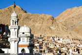 Leh, the capital of Ladakh, India, with mosque — Foto de Stock