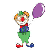 Clown with balloon — Stock Vector