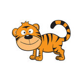 Cute little tiger — Stock Vector