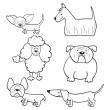 Royalty-Free Stock Vector Image: Coloring book with cartoon dogs