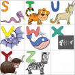 Alphabet with cartoon animals 3 — Stock Vector #12017323