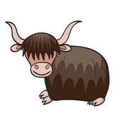 Cartoon yak — Stock Vector