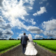 The bride and groom — Stock Photo