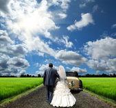 The bride and groom — Stok fotoğraf