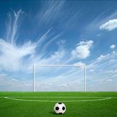 Green football — Stock Photo