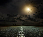 Puesta del sol y del camino — Foto de Stock