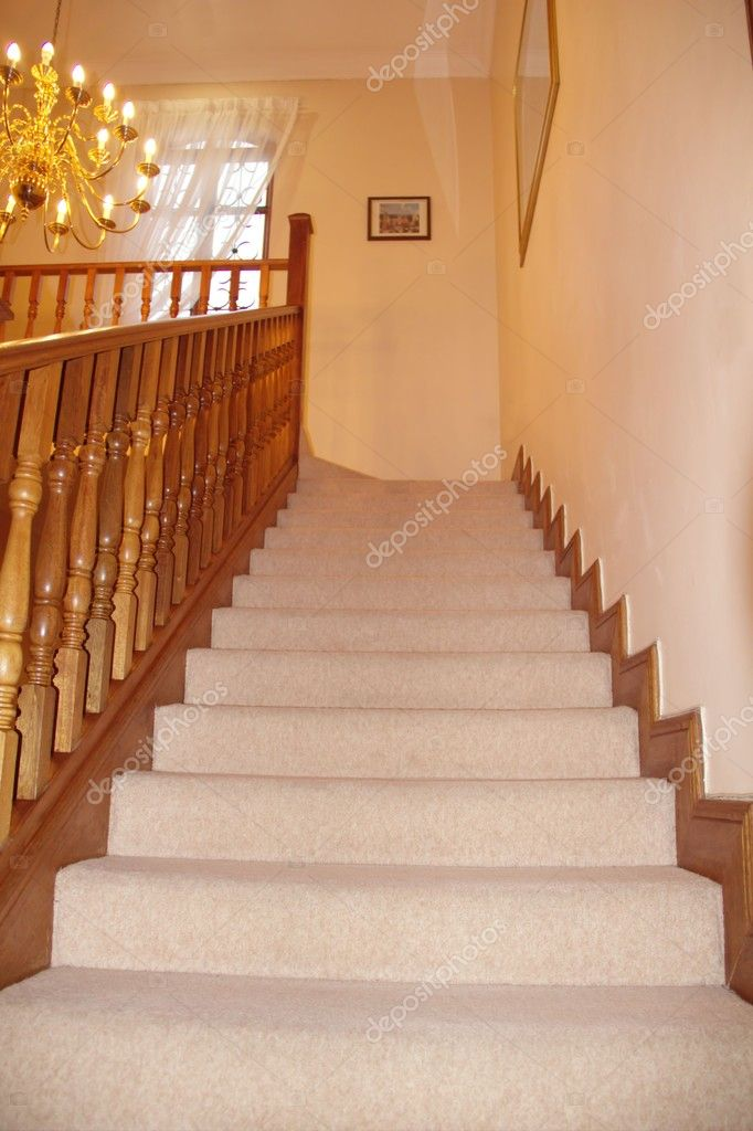 Wooden stairs in the house — Stock Photo #11029544